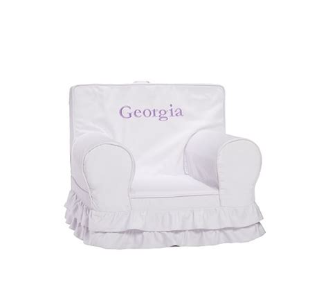 pottery barn kids chair slipcover ruffle anywhere chair 174 slipcover only pottery barn kids