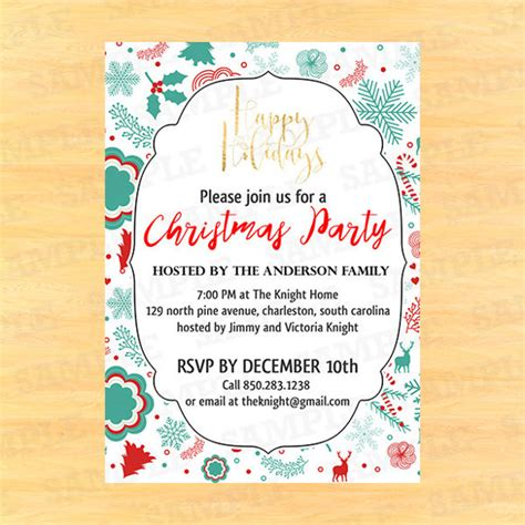 21 christmas invitation templates free sle exle
