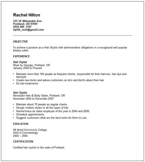 fashion stylist resume objective exles http www resumecareer info fashion stylist resume