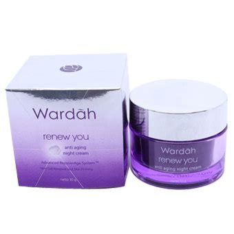 Wardah Anti Aging wardah renew you anti aging 30 gr lazada