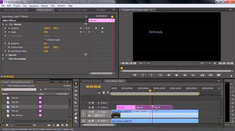 tutorial adobe premiere cc pdf adobe premiere pro cc tutorial matching the motion of an