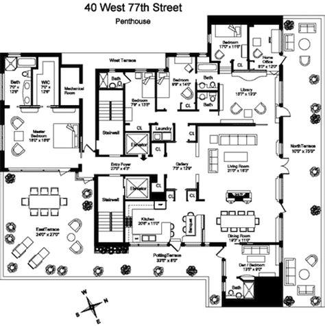 Ridgewood Condo Floor Plan Multi Terraced Upper West Side Penthouse Wants 15 Million