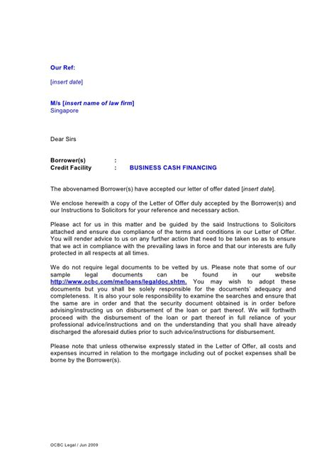 Mortgage Facility Letter Letter Of For Business Financing