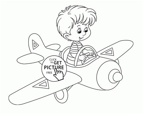 coloring pages airplane pilot pilot free coloring pages
