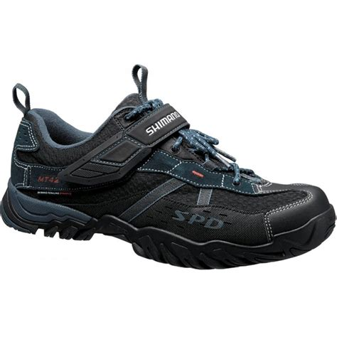 bike footwear shimano mt42 trail mountain bike shoes navy blue shimano
