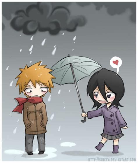 anime jepang romantis bleach ichigo rukia by uryu yu on deviantart
