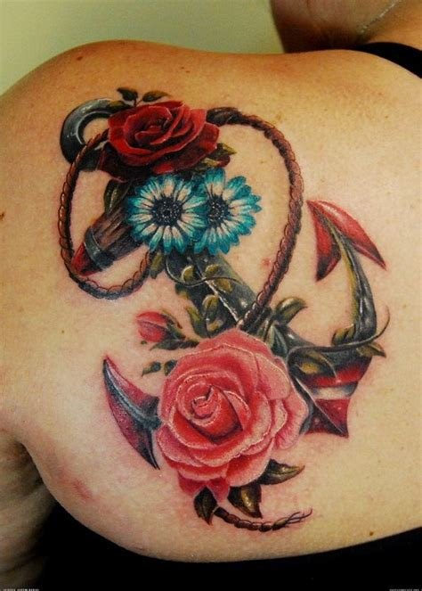 rose and key tattoo meaning 45 anchor design ideas