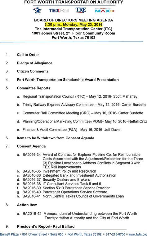 board of directors meeting agenda template 3 best