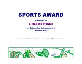 Sports Award Templates by Sports Certificate Templates Award Certificate Template