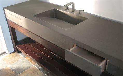 Diy Concrete Trough Sink by Custom Concrete Bathroom Sinks Trueform Concrete