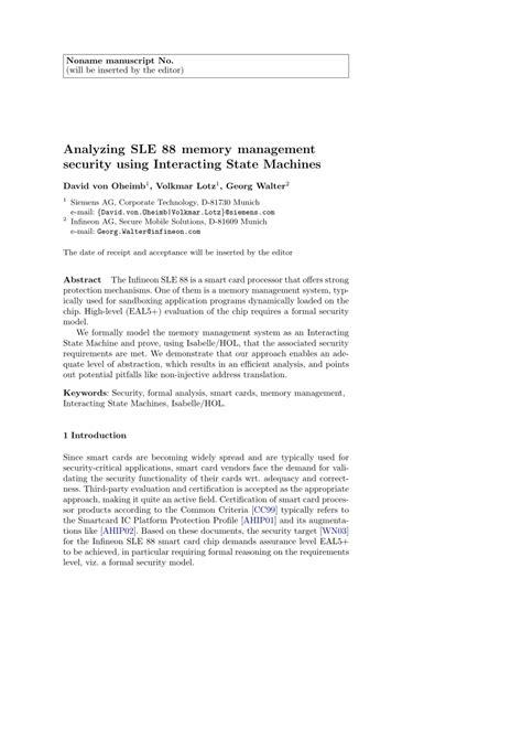 management analysis sle analyzing sle 88 memory management pdf available