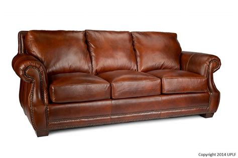 Leather Sofa Nailhead Traditional Top Grain Leather Sofa With Nailhead Trim By Usa Premium Leather Wolf And Gardiner