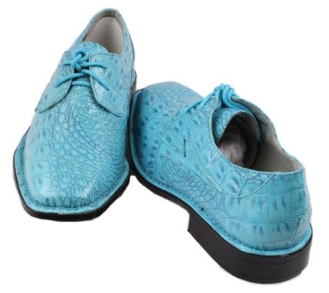 turquoise oxford shoes hugo vitelli boys youth turquoise croco embossed dress
