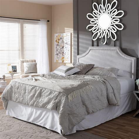 contemporary upholstered headboards baxton studio avignon modern and contemporary greyish