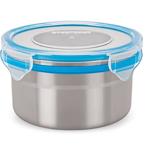 food storage containers airtight steel lock blue airtight storage food containers 500 ml by