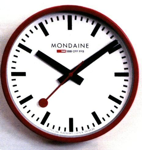 mondaine wall clock red railway wall clock a990 clock 11sbc mondaine