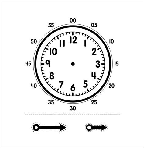 printable clock templates 17 free word pdf format
