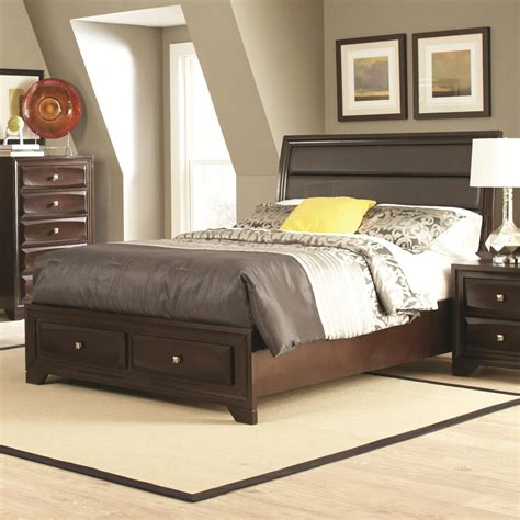 queen size bed furniture coaster 203481q brown queen size wood bed steal a sofa