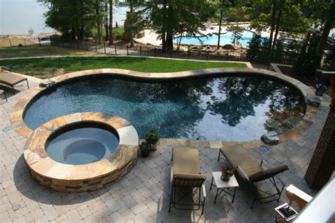 pool landscaping mooresville lake norman signature
