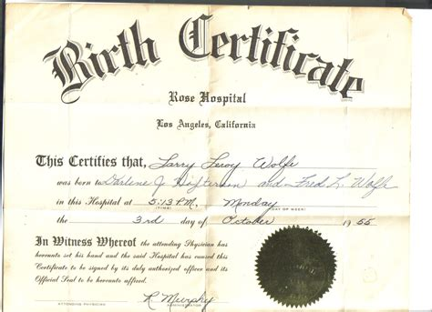 Records In California Santa Clara County Vital Records Birth Certificate