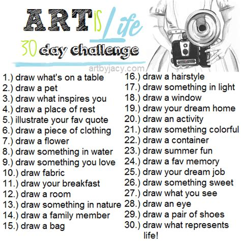 drawing challenge hello awesome is 30 day challenge