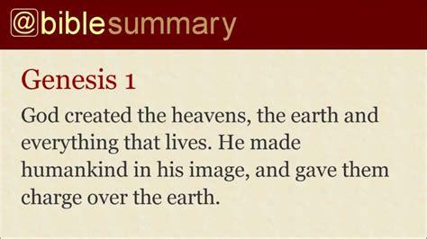 genesis chapter 1 summary bible summary genesis 1 11