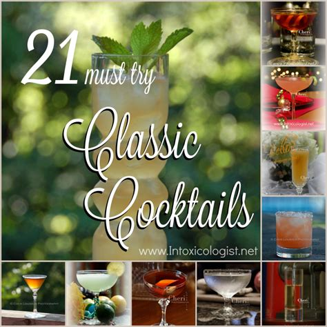 classic cocktail recipes classic recipes
