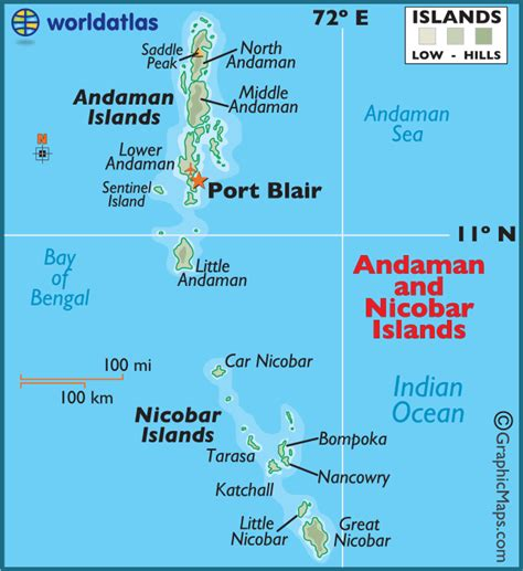 Andaman And Nicobar Outline Map by Andaman Nicobar Islands Large Color Map