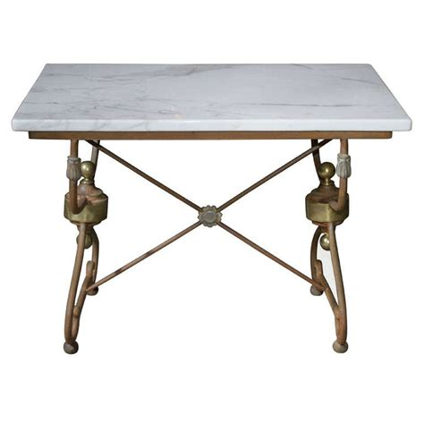 pastry table marble top butcher pastry table for sale at 1stdibs