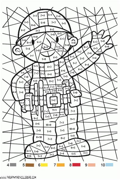 dibujos para colorear sumasyrestas colorea por sumas y n colorear con sumas 001