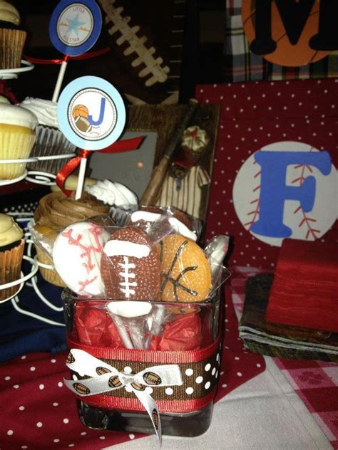 sports themed baby shower favors sports theme baby shower sports sucker favors