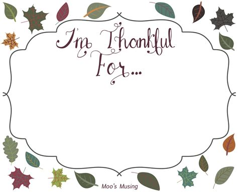 Thankful Template moo s musing i m thankful for free lettered