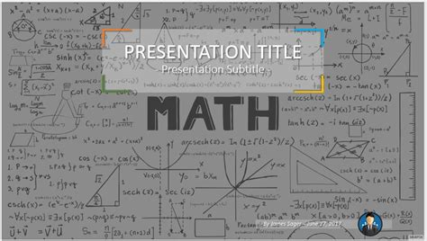 Free Math Powerpoint 53266 Sagefox Free Powerpoint Templates Math Template Powerpoint