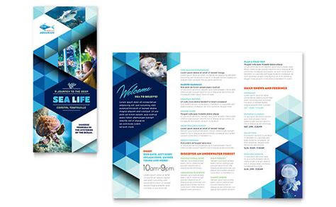 template of brochure aquarium brochure template design