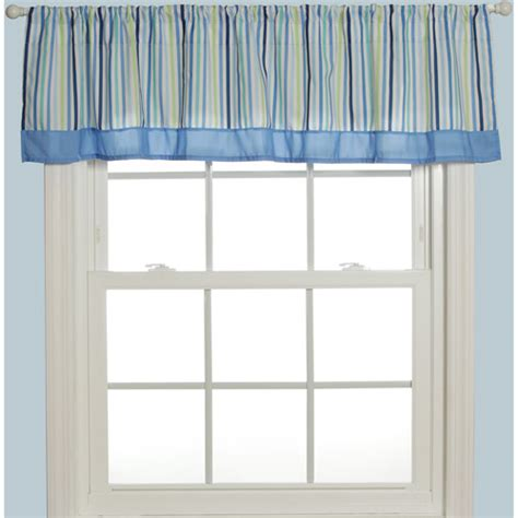 Baby Window Valance baby boom window valance blue mosaic bedding decor walmart