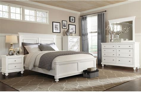 bridgeport 6 bedroom set white the brick