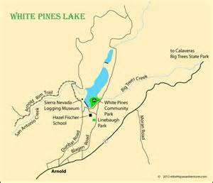 arnold california map white pines lake