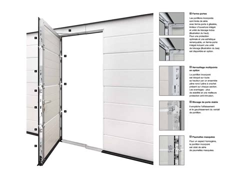 porte de garage sectionnelle avec portillon 2372 porte de garage sectionnelle motoris 233 e avec portillon