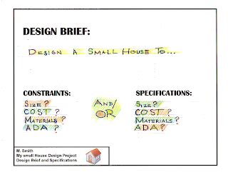 design brief with specifications and constraints nottingham technology ii small house design
