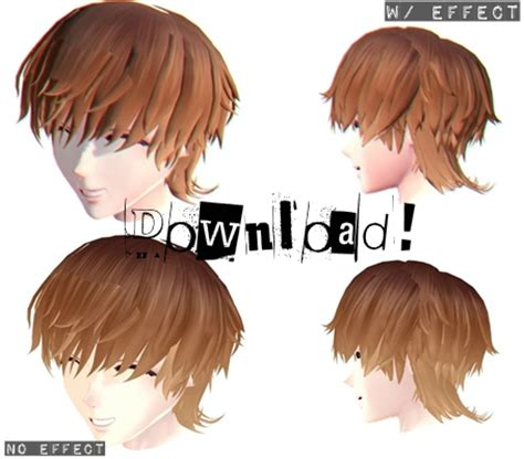 Male Hair Dl By Xmixed On Deviantart Art Mmd Male Hairstyles Dl
