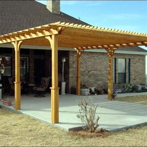 how to build a pergola on concrete pergola on a concrete slab garden outdoor decor