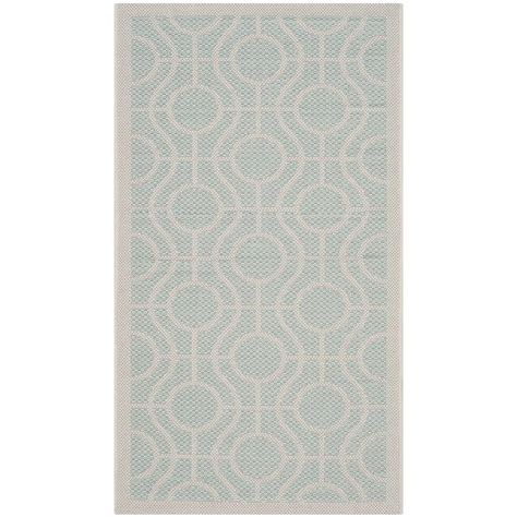 Light Aqua Area Rug by Safavieh Courtyard Aqua Light Gray 2 Ft 7 In X 5 Ft