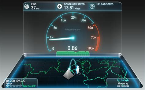 test adsl speed tester sa connexion