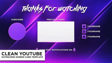 end card template end card template template business