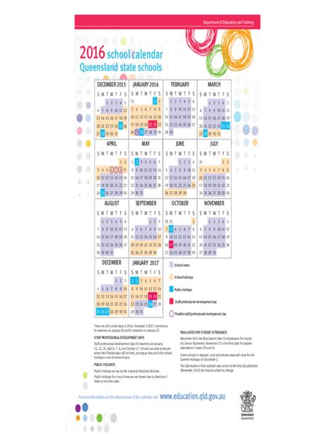 printable calendar queensland 2016 2015 2016 school calendar queensland free download