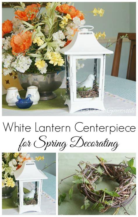 White Lantern Decor by White Lantern Centerpiece From A Thrift Store Find 3