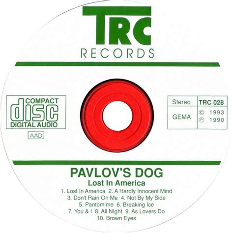 Pavlovs Lost In America Eu Cd car 225 tula cd de pavlov s lost in america portada
