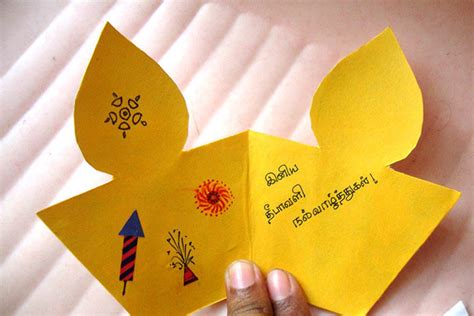 how to make diwali card diy diwali project ideas for children schools k4 craft