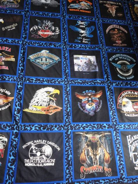 Harley Davidson Quilts For Sale by Size Harley Davidson Tshirt Quilt By