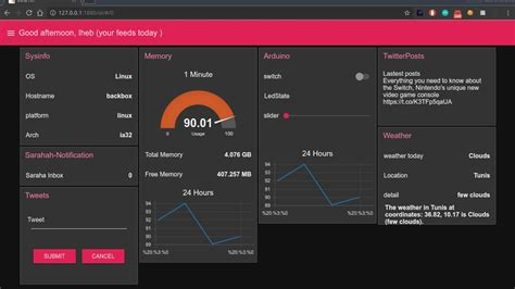Home Design Shows On Youtube by Node Red Dashboard Demo Make A User Interface Youtube